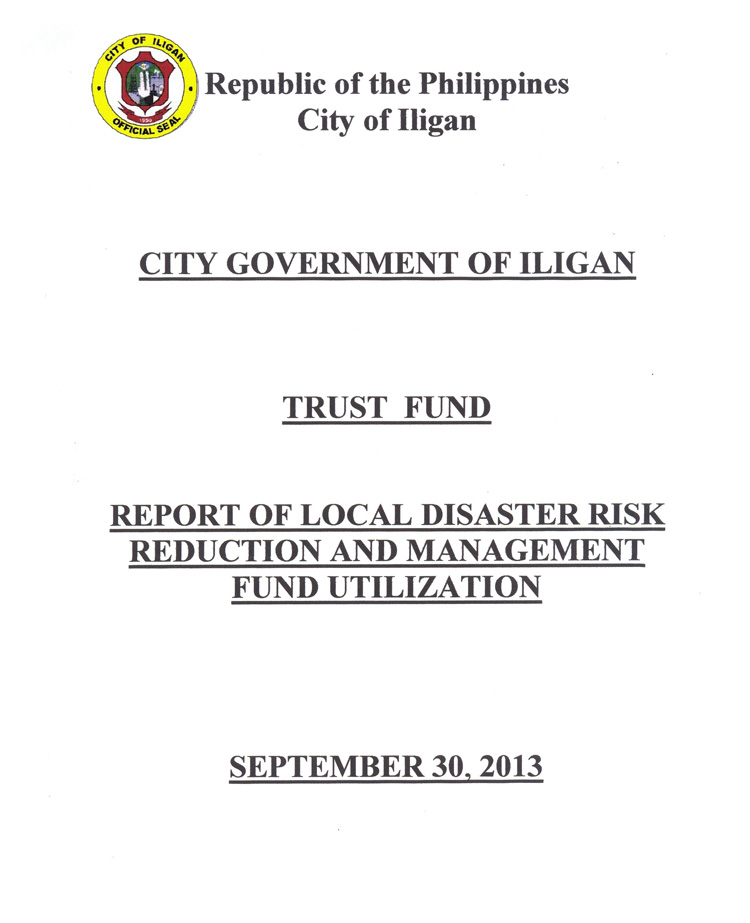 Trust Fund for Local Risk Reduction(1)